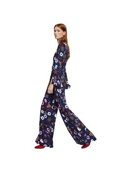 mango---navy-floral-print-charlie-jumpsuit by mango