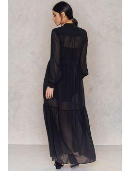 deep-front-neck-chiffon-dress-black by na-kd-boho