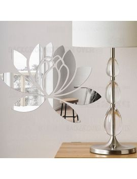 mirror-wall-stickers-decals-sticker-room-bedroom-acrylic-decor-decoration-fridge-decorative-girl-walls-lotus-flower-petals-r063 by aliexpresscom