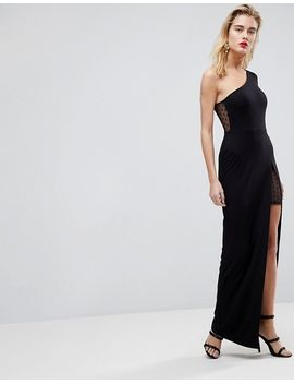 asos-dobby-one-sleeve-maxi-dress by asos-collection