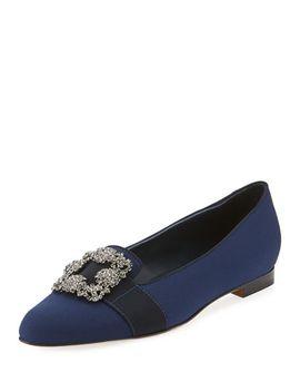 marria-jewel-buckle-crepe-slipper by manolo-blahnik