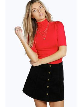 turtle-neck-short-sleeved-top by boohoo