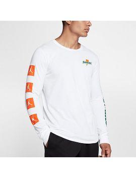 """męski-t-shirt-z-długim-rękawem-jordan-sportswear-""""be-like-mike""""-nikecom-pl by nike"""
