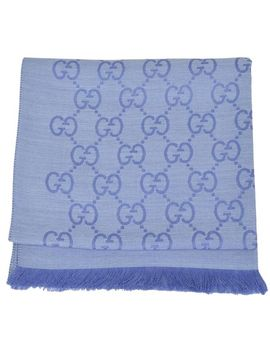 nile-blue-new-womens-165904-wool-silk-gg-guccissima-scarf_wrap by gucci