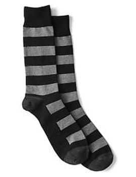 colorblock-stripe-crew-socks by gap