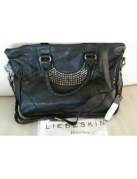 nwt~liebeskind-berlin~esther-~satchel-vintage-leather_studs-black~msrp-$298 by ebay-seller