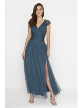 outlet-little-mistress-petrol-maxi-dress by little-mistress