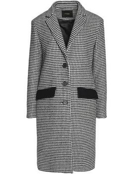 houndstooth-wool-blend-coat by maje