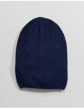 asos-slouchy-beanie-in-navy by asos
