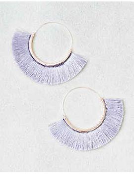 ae-silver-tassel-hoop-earrings by american-eagle-outfitters