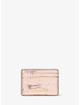 metallic-snake-embossed-leather-card-case by michael-kors