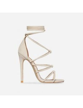 antonia-knotted-lace-up-heel-in-nude-faux-suede by ego