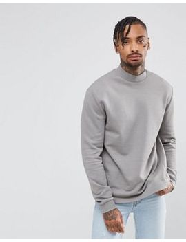 asos-sweatshirt-with-high-neck by asos