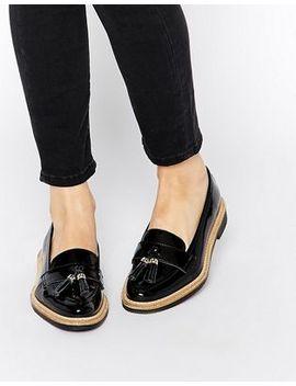 kg-by-kurt-geiger-lucien-black-tassel-loafer-flat-shoes by kg-by-kurt-geiger-