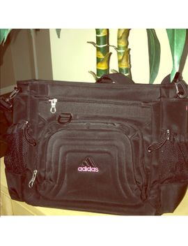 sold_adidas-black_pink-embroidered-messenger-bag by adidas