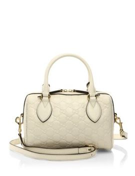 signature-mini-leather-satchel by gucci