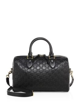 medium-soft-signature-leather-boston-bag by gucci