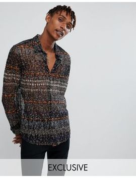 reclaimed-vintage-inspired-lace-pattered-shirt-with-long-sleeves by reclaimed-vintage