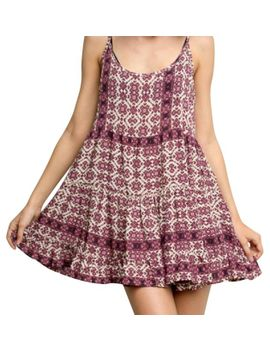 maroon-patterned-jada--casual-dress by brandy-melville