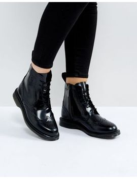 dr-martens-kensington-delphine-brogue-black-lace-up-ankle-boots by dr-martens