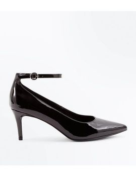 black-patent-ankle-strap-pointed-courts by new-look