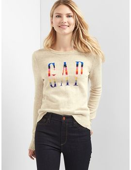 crazy-stripe-logo-crewneck-sweater by gap