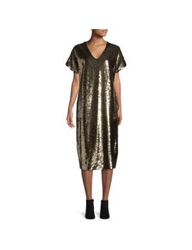 tracee-ellis-ross-for-jcp-glow-short-sleeve-reversible-sequin-dress by tracee-ellis-ross-for-jcpenney