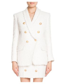 double-breasted-tweed-blazer by balmain