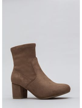 block-this-way-faux-suede-booties by gojane