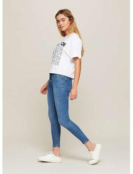 sofia-skinny-fit-mid-blue-jeans by miss-selfridge