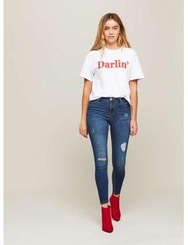 lizzie-high-waist-super-skinny-dark-blue-ripped-jeans by miss-selfridge