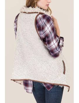 winslet-drape-front-sherpa-vest by francescas