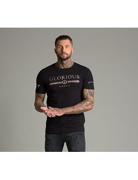 boyett-foil-stripe-t-shirt-|-black by footasylum