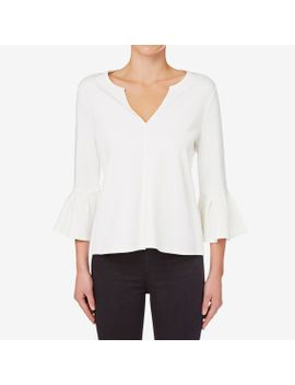ponte-frill-sleeve-top by seed-heritage
