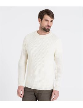 mens-pure-wool-fishermans-rib-knitted-sweater by woolovers