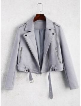 belted-cropped-faux-suede-jacket---gray-l by zaful