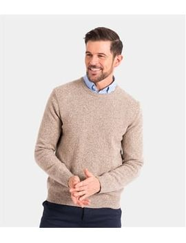 Mens Lambswool Crew Neck Sweater by Wool Overs