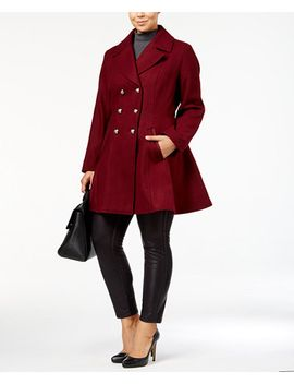 plus-size-wool-blend-skirted-peacoat,-created-for-macys by laundry-by-shelli-segal