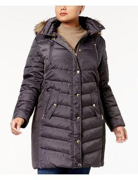 plus-size-faux-fur-trim-down-coat,-created-for-macys by michael-michael-kors