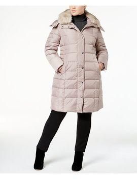 plus-size-faux-fur-collar-down-coat by london-fog