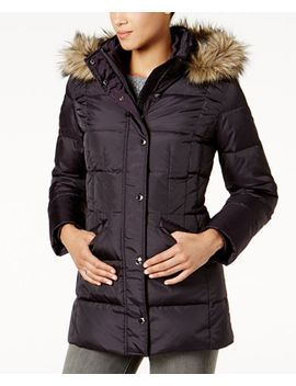 plus-size-faux-fur-trim-down-coat by london-fog