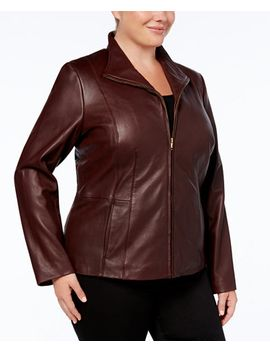 plus-size-leather-jacket by general