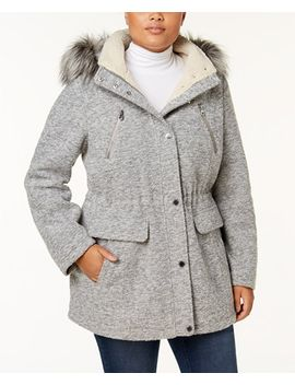 plus-size-faux-fur-trim-anorak by nautica