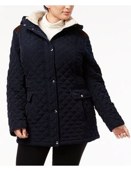 plus-size-fleece-trim-quilted-coat by laundry-by-shelli-segal