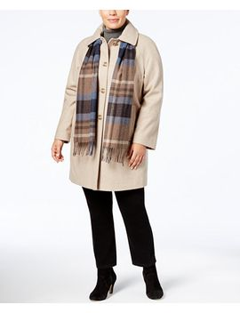 plus-size-walker-coat-with-scarf by london-fog