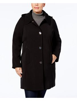 plus-size-turn-lock-raincoat by london-fog