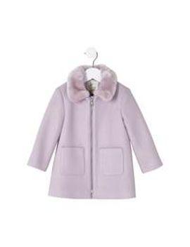 girls-faux-fur-collar-swing-coat by river-island-mini