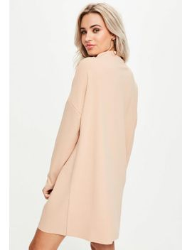 nude-scuba-sweater-dress by missguided