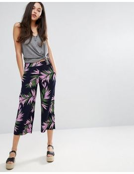 warehouse-palm-print-cropped-pants by warehouse