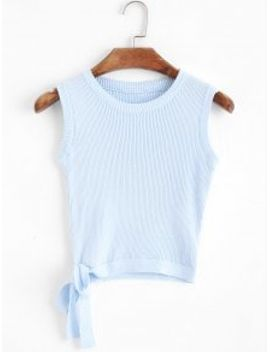 knitted-bowknot-cropped-tank-top---light-blue by zaful